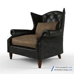 آبجکت صندلی راحتی کلاسیک