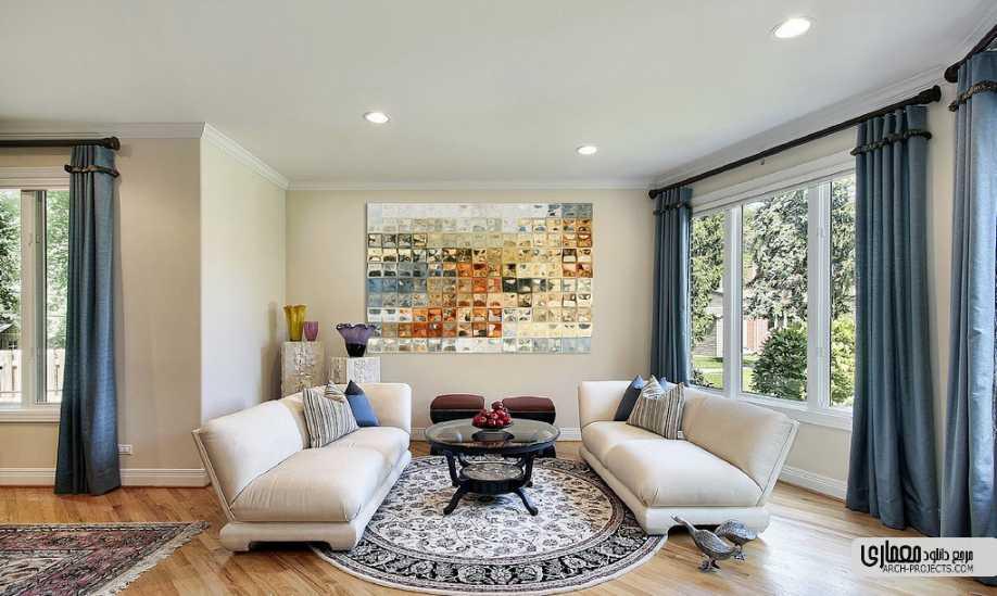طراحی داخلی با هنر مدرن