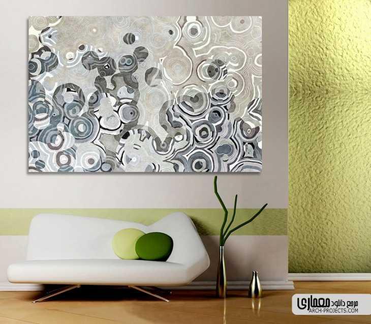 دکورسیون داخلی با تابلو مدرن