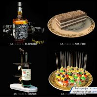 مدل سه بعدی لوازم رومیزی