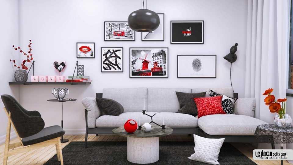 استفاده از هنر برای جان دادن به محیط اتاق