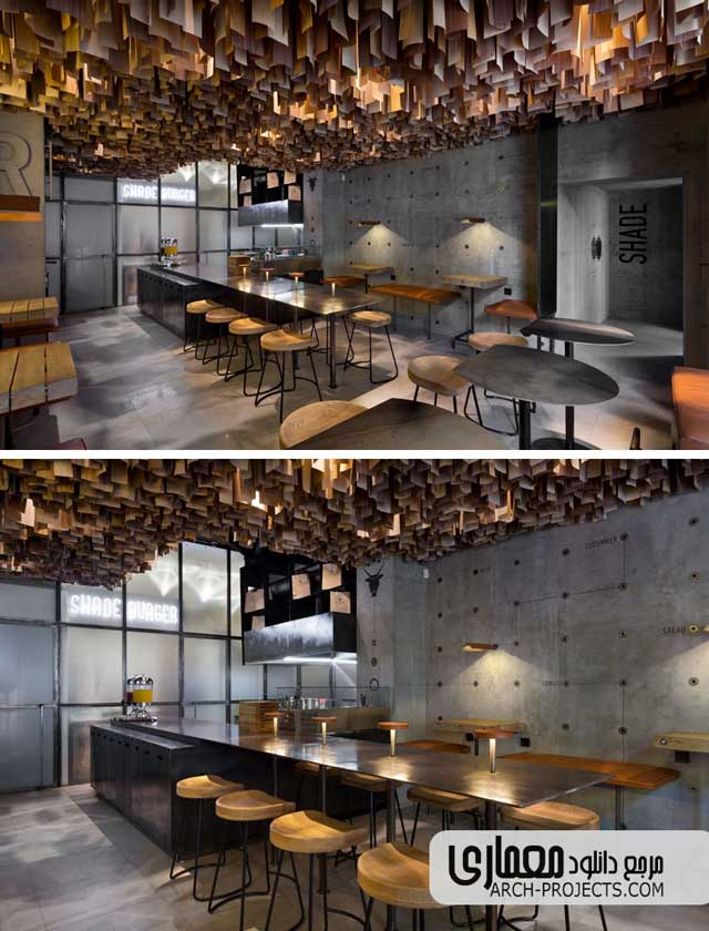 چوب در طراحی داخلی رستوران