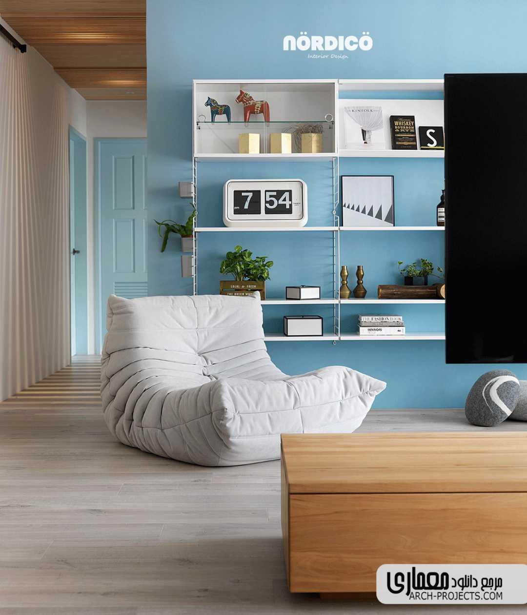 ایده طراحی خانه مدرن و رنگارگ