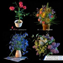 دانلود مدل سه بعدی گل خانگی