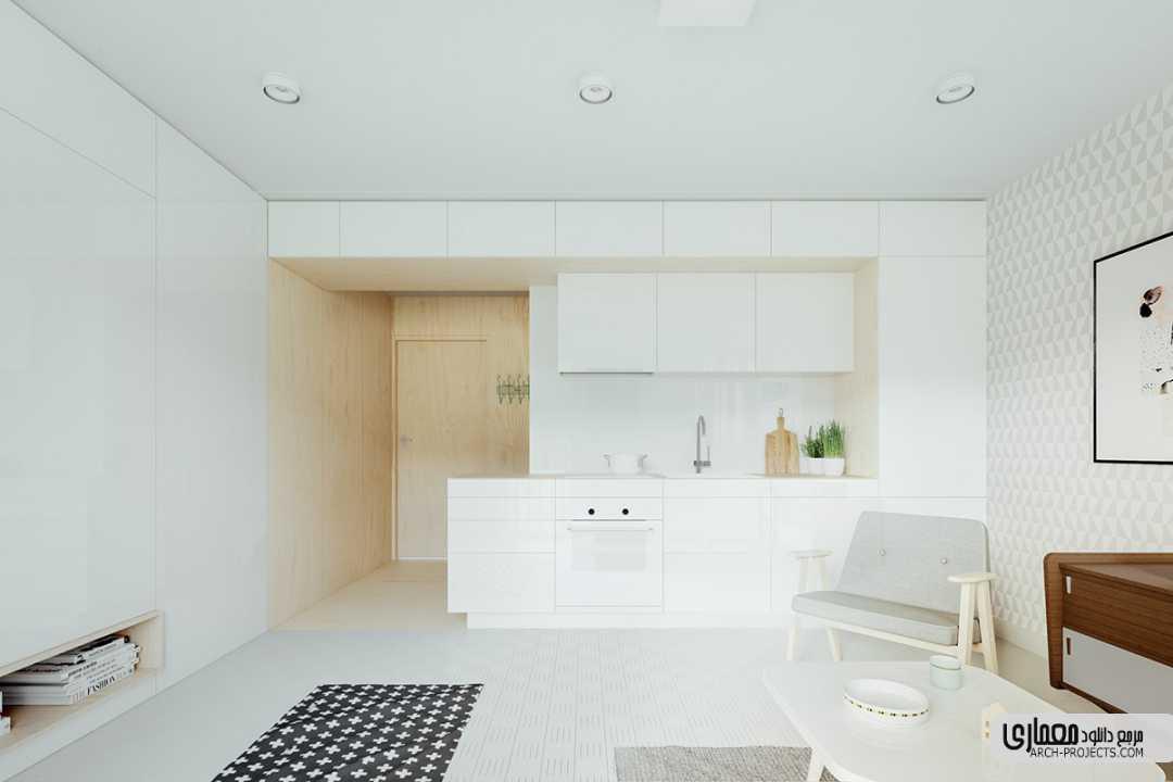 طراحی خانه های کوچک کمتر از 50 متر مربع
