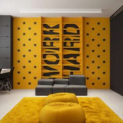 طراحی اتاق کودک با تم تیره
