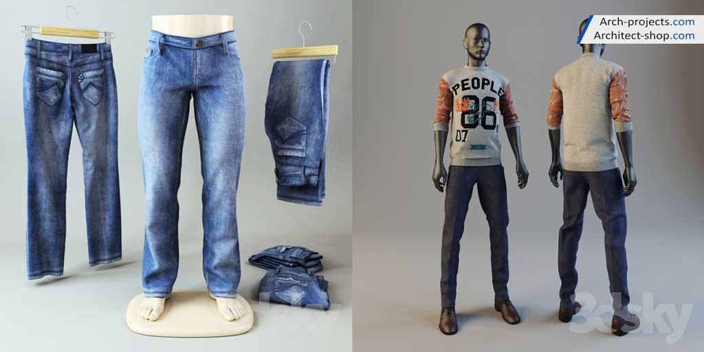 دانلود مدل سه بعدی لباس