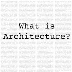 معماری چیست ؟