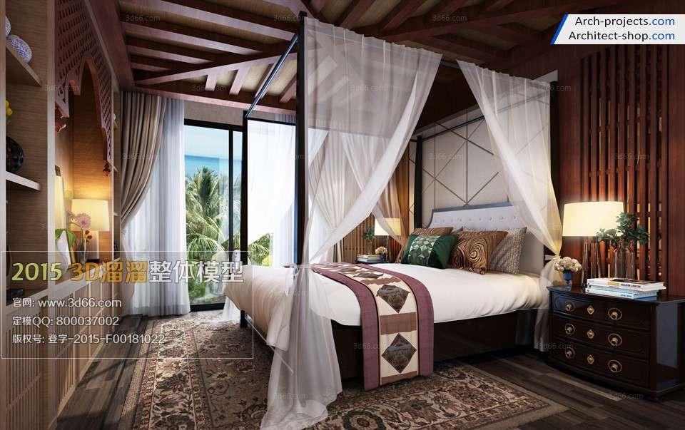 اتاق خواب به سبک آمریکای