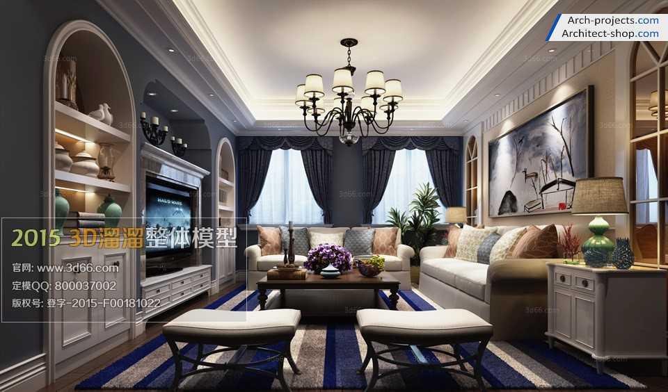 طراحی اتاق نشمین به سبک مدیترانه ای
