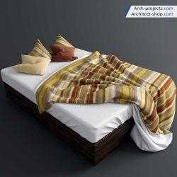 دانلود رایگان آبجکت تخت خواب مدرن