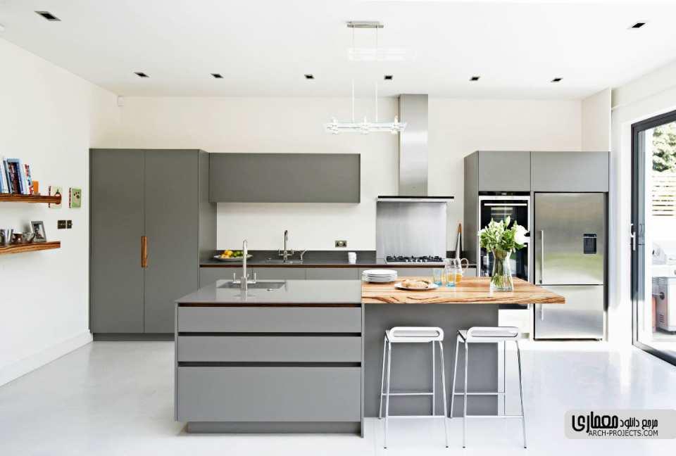 آشپزخانه خاکستری