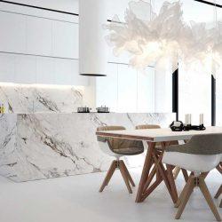36 آشپزخانه مرمری فوق العاده که نمایی لوکس دارند