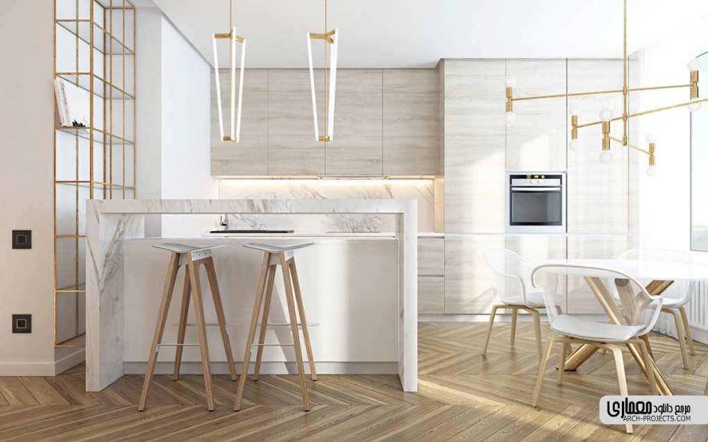نمونه طراحی آشپزخانه