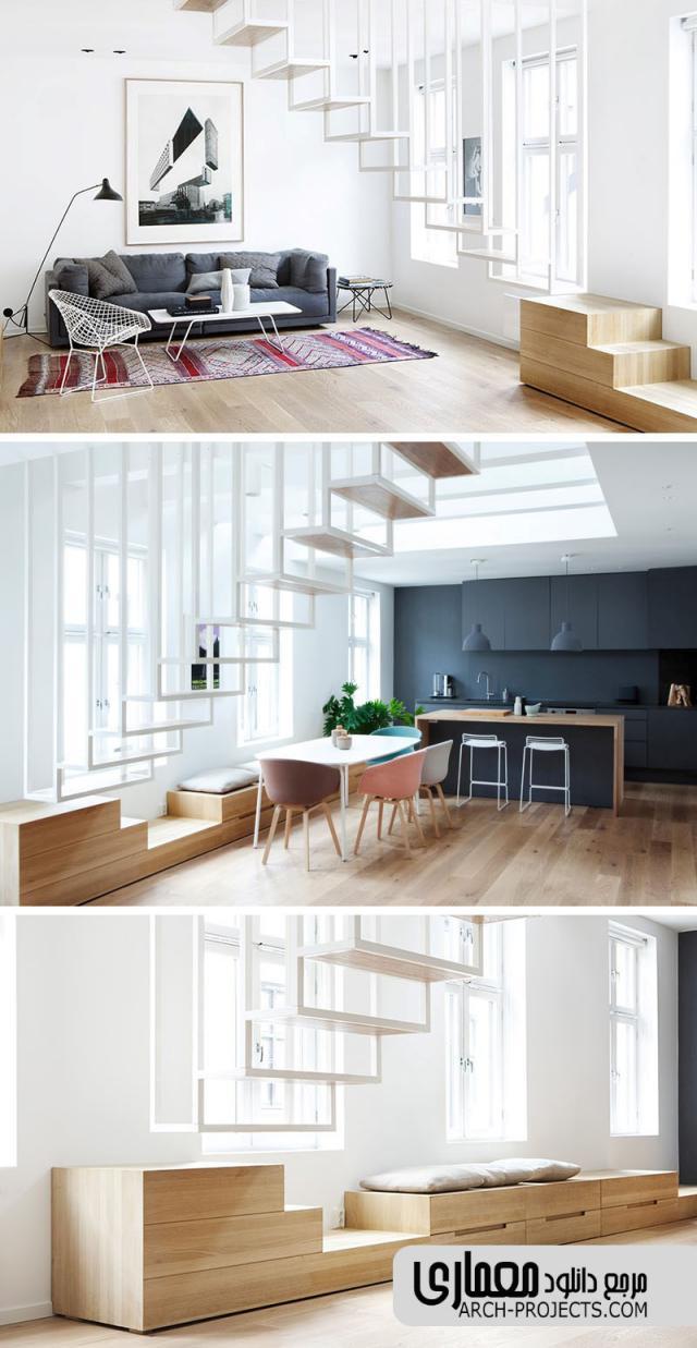 طراحی پله برای فضاهای کوچک