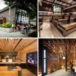 طراحی کافی شاپ های Starbucks در سراسر جهان