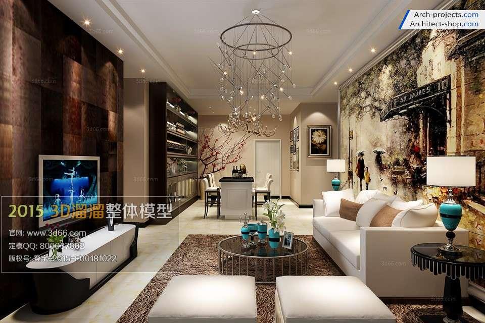 طراحی اتاق نشیمن مدرن