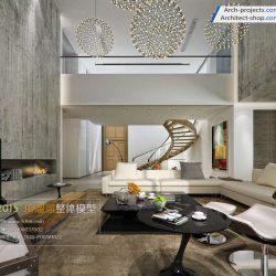 دانلود مدل سه بعدی اتاق نشیمن مدرن