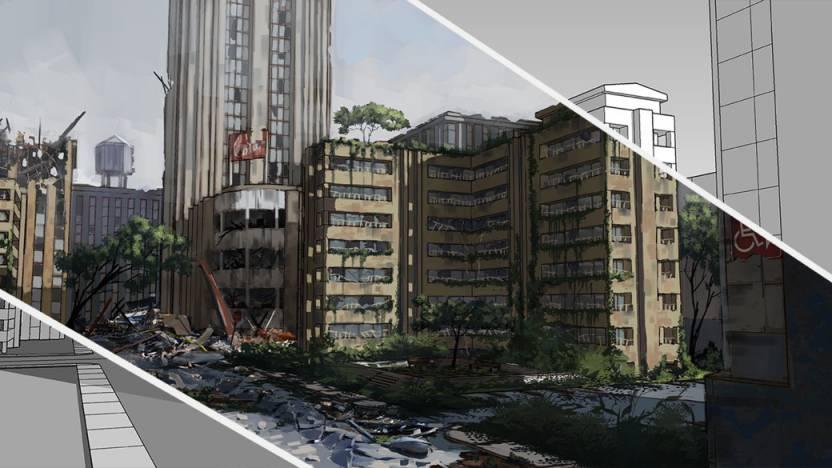 آموزش مدل سازی شهر در اسکچاپ