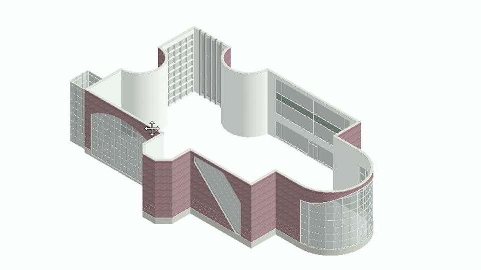 آموزش ساخت دیوارهای پرده ای در Revit