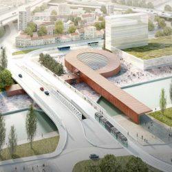 طراحی ایستگاه مترو Pont de Bondy
