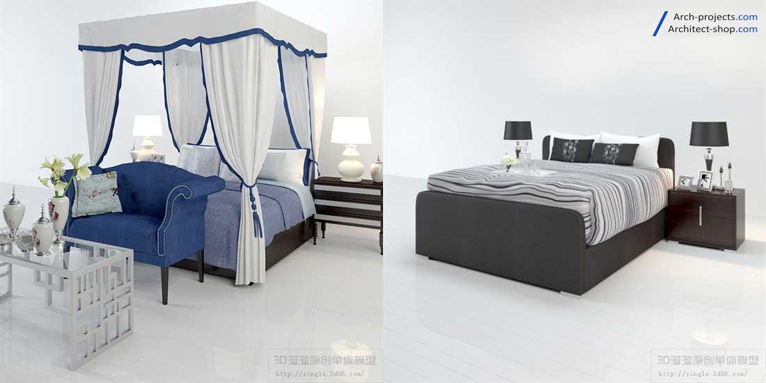 دانلود مدل تخت خواب مدرن