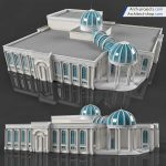 دانلود مدل سه بعدی نمای ساختمان کلاسیک