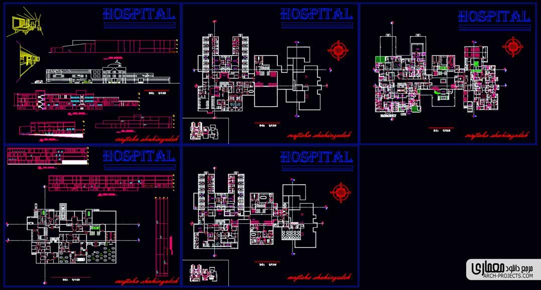 پلان طراحی بیمارستان