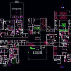 دانلود 2 پلان طراحی بیمارستان