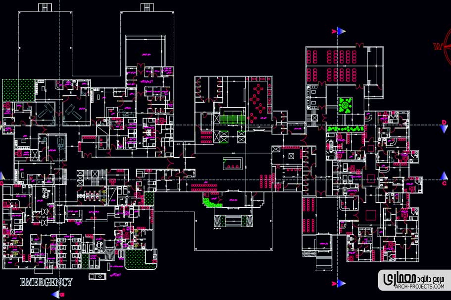 دانلود پلان طراحی بیمارستان