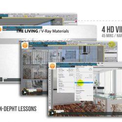 آموزش طراحی اتاق نشیمن در 3dmax
