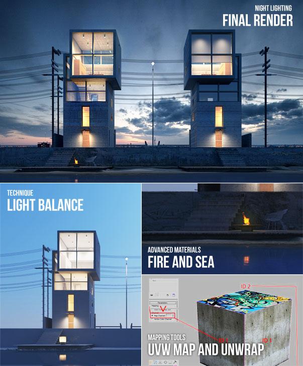 آموزش طراحی نمای بیرونی ساختمان