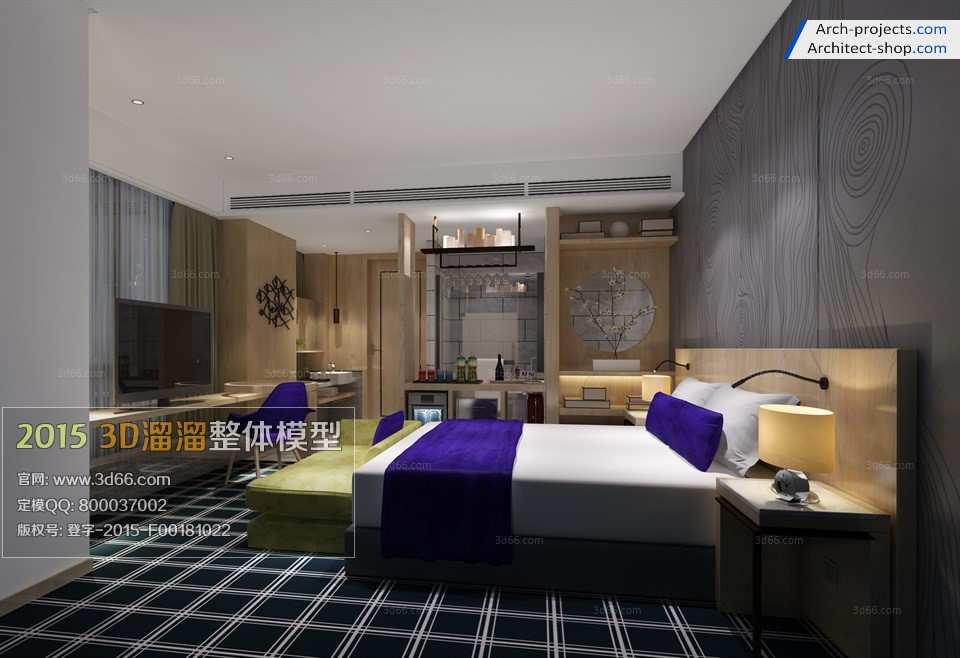دانلود مدل سه بعدی سوئیت هتل