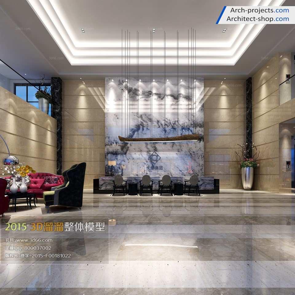 دانلود مدل سه بعدی لابی هتل