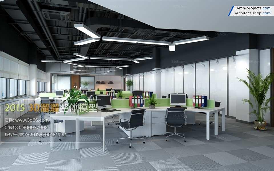 مدل سه بعدی ساختمان اداری