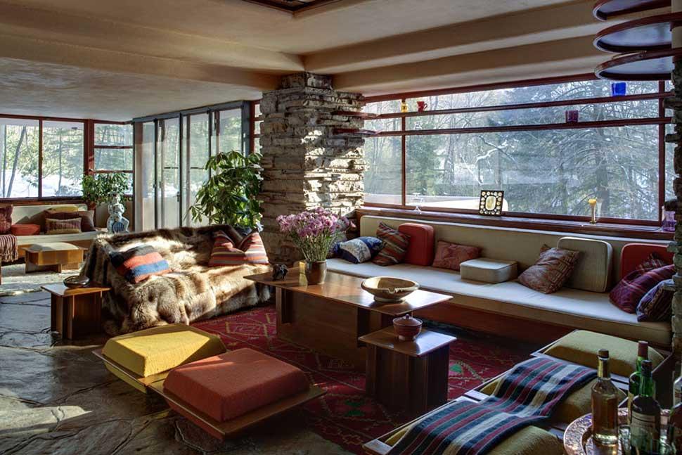 طراحی داخلی خانه آبشار