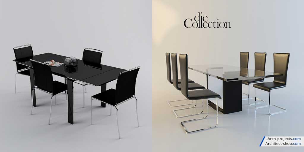 دانلود مدل سه بعدی میز نهار خوری