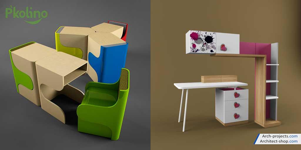 آبجکت میز و صندلی اتاق کودک