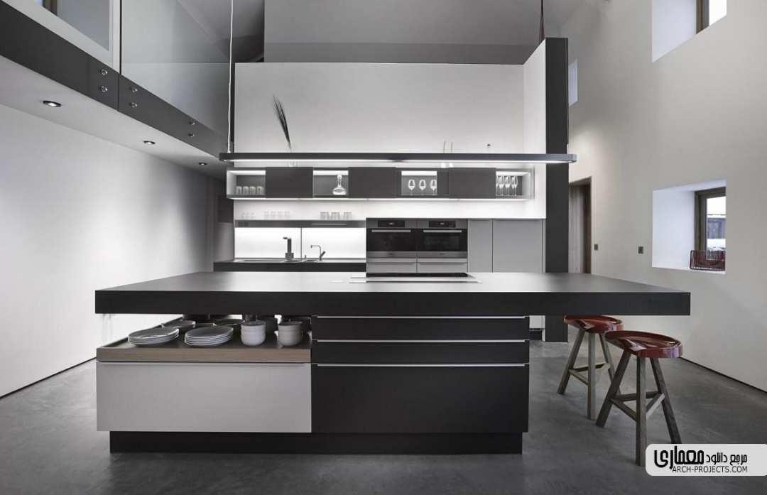طراحی مینیمالیستی آشپزخانه