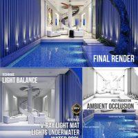 آموزش طراحی ویلا و استخر در 3ds Max