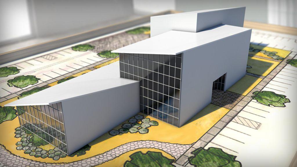 آموزش مدل سازی مفهومی یک ساختمان در رویت