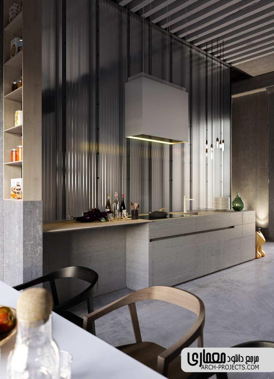 ایده طراحی آشپزخانه خاکستری