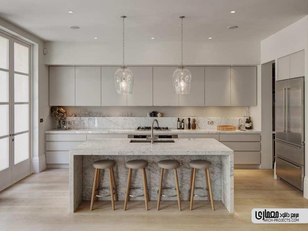 طراحیآشپزخانه با تم خاکستری