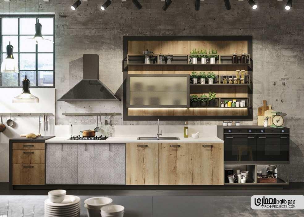 ایده طراحی آشپزخانه با تم خاکستری