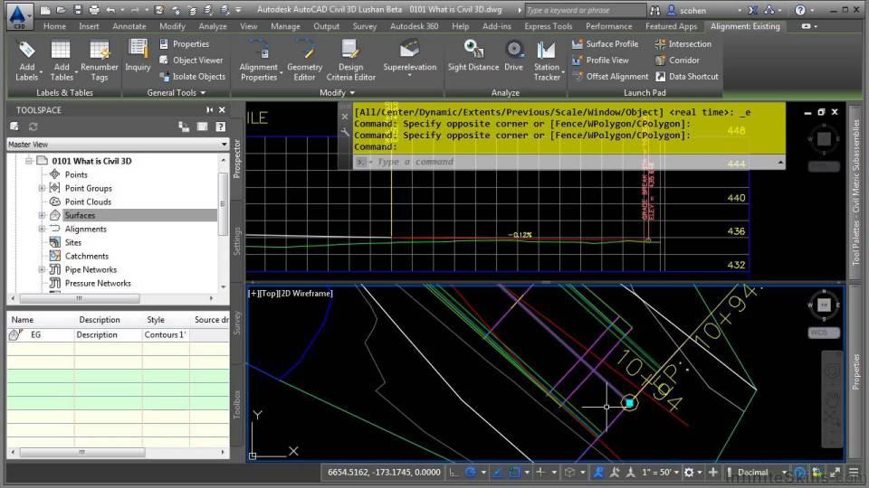آموزش AutoCAD Civil 3D