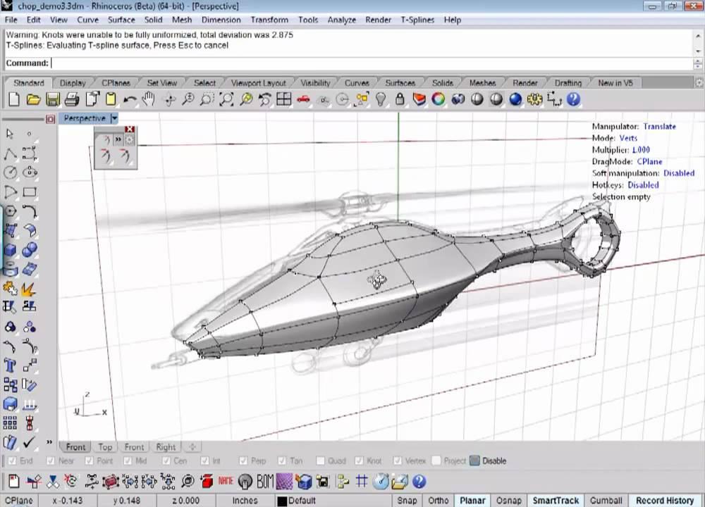 آموزش مدلسازی با T-Splines در Rhino