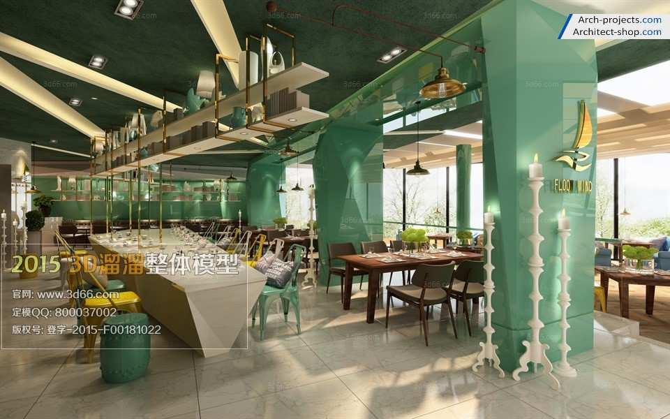 دانلود مدل سه بعدی رستوران