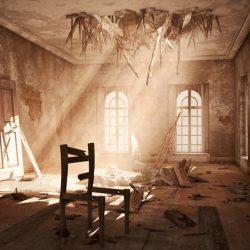 آموزش ایجاد صحنه داخلی تخریب شده در مکس