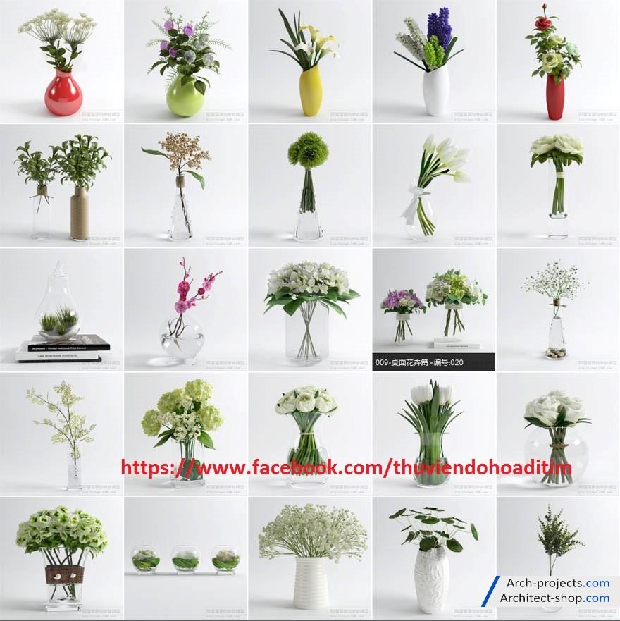 دانلود رایگان آبجکت گلدان دکوری
