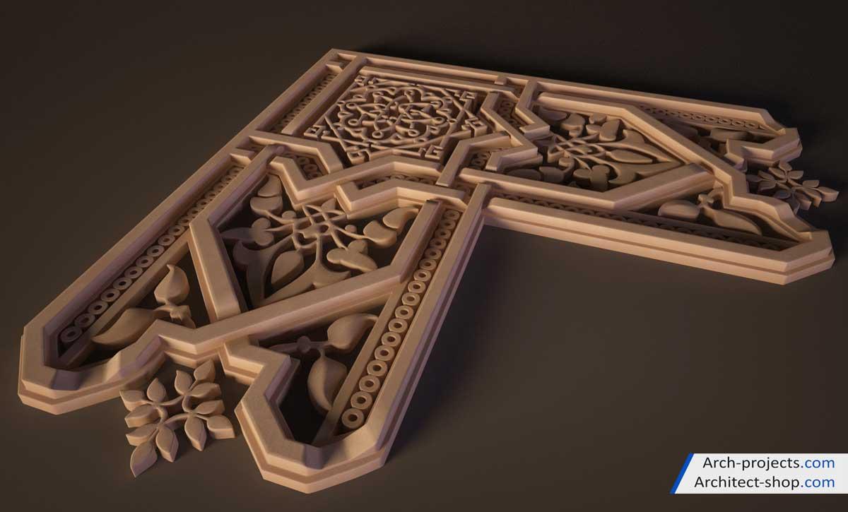 مدل سه بعدی نقوش اسلامی